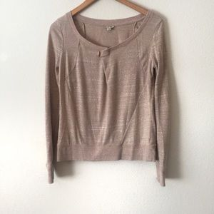 Anthropologie HOLDING HORSES Tan Heather Sweater